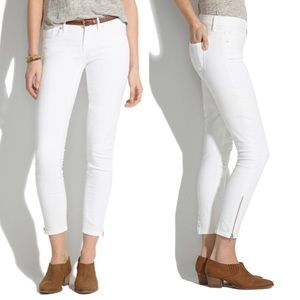 Madewell White Skinny Crop Pants / Jeans